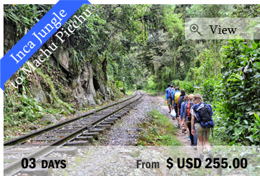 Inca Jungle Trail to Machu Picchu (3 Days)