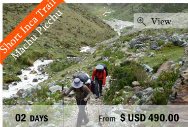 Short Inca Trail to Machu Picchu (2 days)