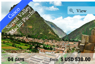 Cusco, Sacred Valley and Machu Picchu (4 days)